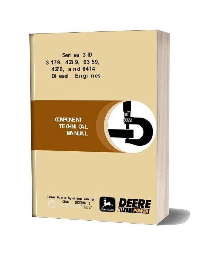 John Deere Serie 300 3179 4239 6359 4276 6414 Diesel Engines