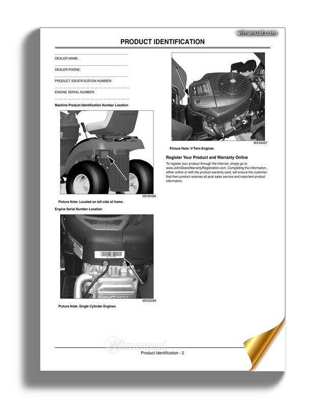 John Deere Tractors 100 Series Operator Manual