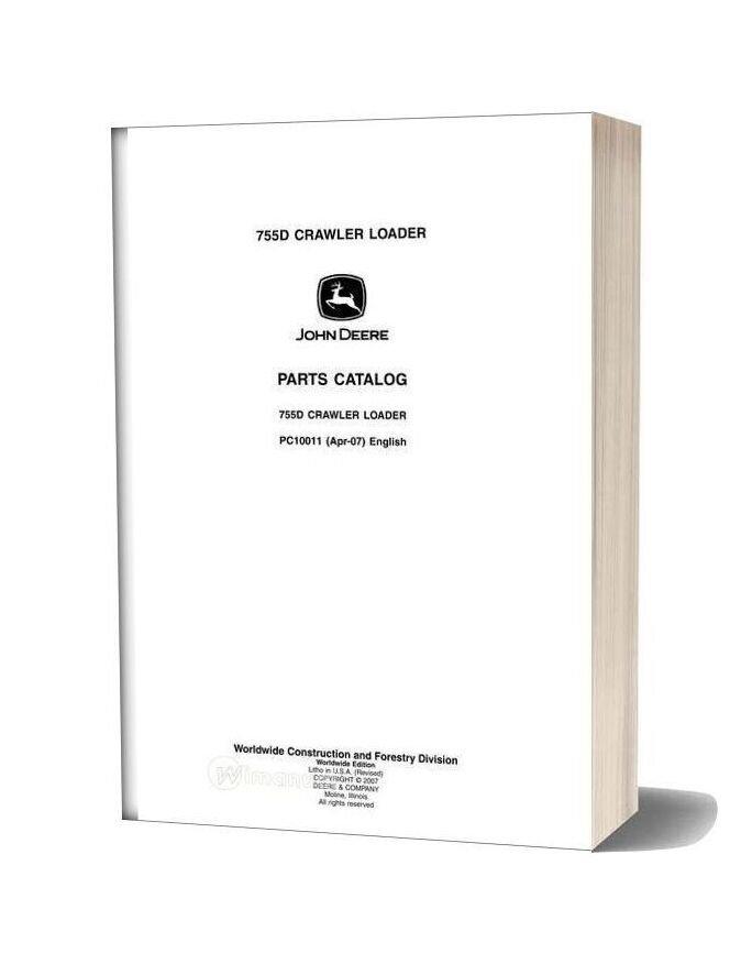 John Deree 755d Crawler Loader Parts Catalog