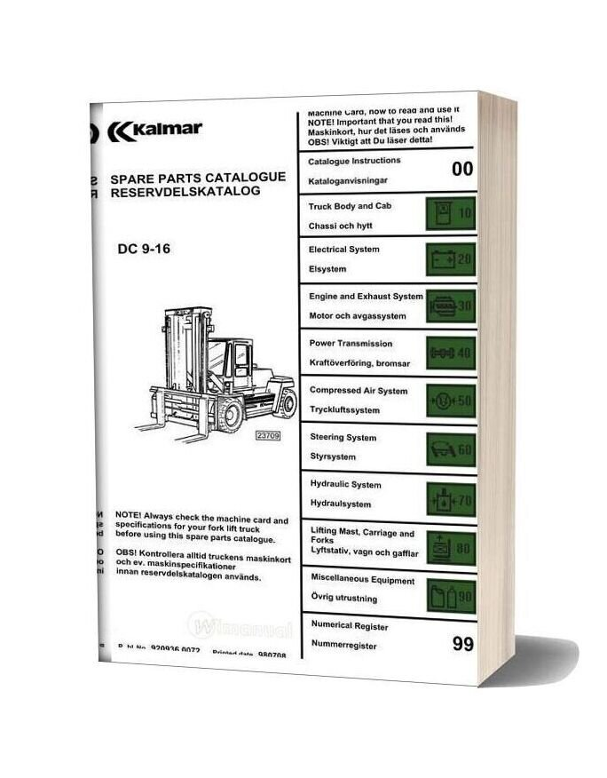 Kalmar Dc9 16 Spare Parts Catalogue on