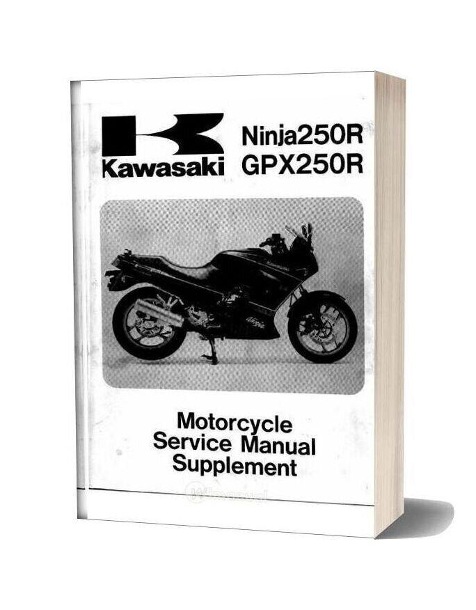 Kawasaki Ex 250 Gpx 250 88 Service Manual Supl