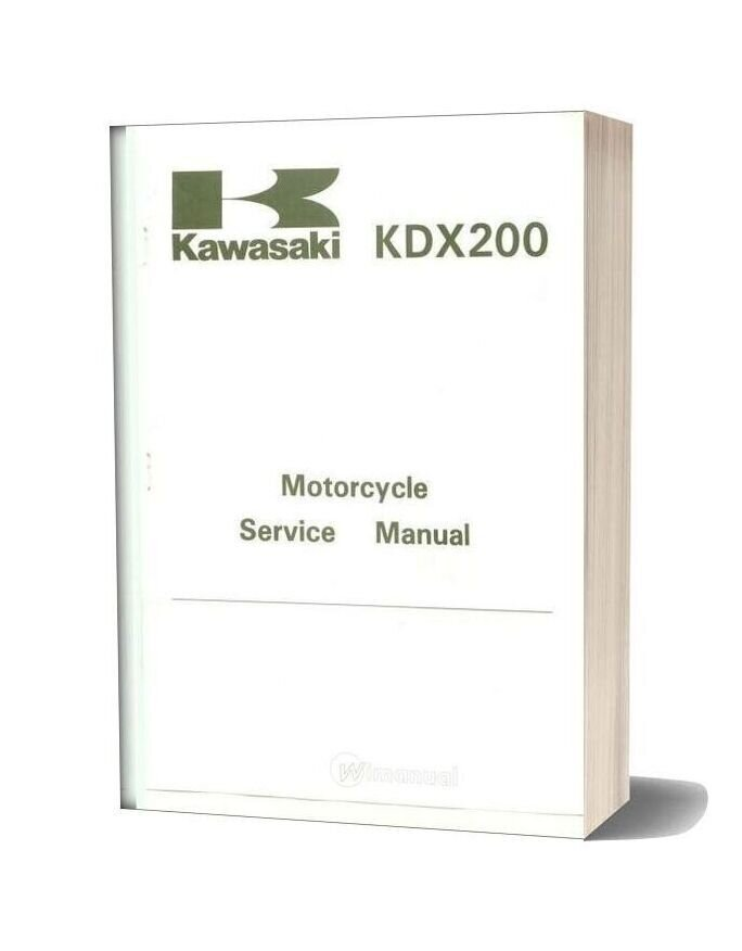 Kawasaki Kdx 200 89 A 94 Service Manual