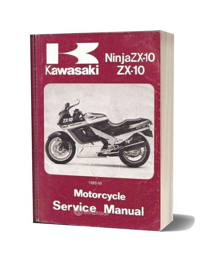 Kawasaki Ninja Zx 10 88 90 Service Manual