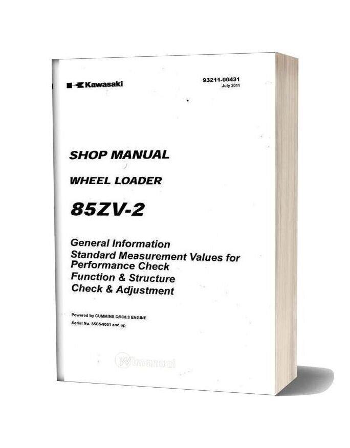 Kawasaki Wheel Loader 85zv 2 Shop Manual