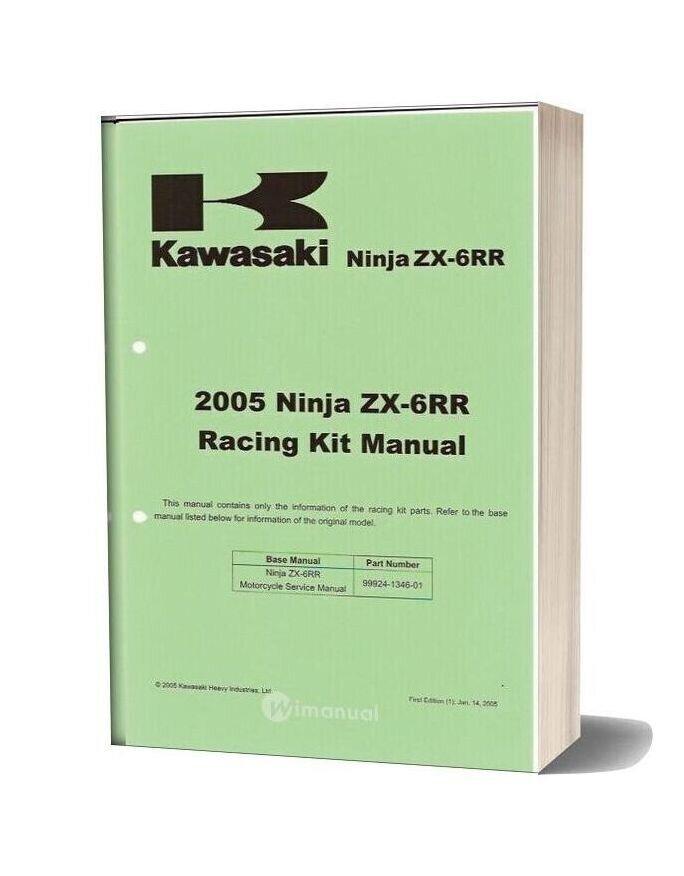 Kawasaki Zx6rr Racing Kit Manual 2005