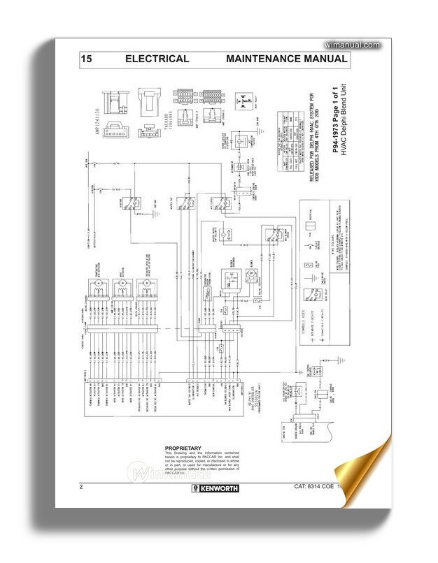 kenworth k108  k200 models electrical wiring diagrams