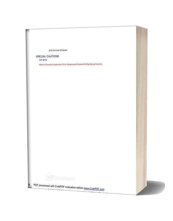 Kia Fort 2010 Parts Manual