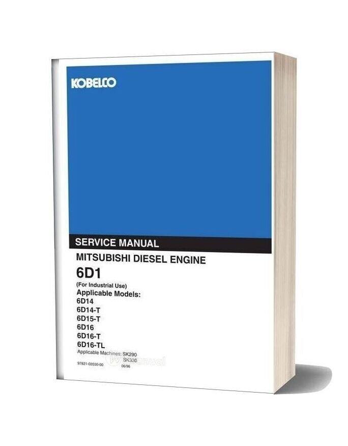 Kobelco 6d1 Mitsu Diesel Engine For Sk290 Sk330