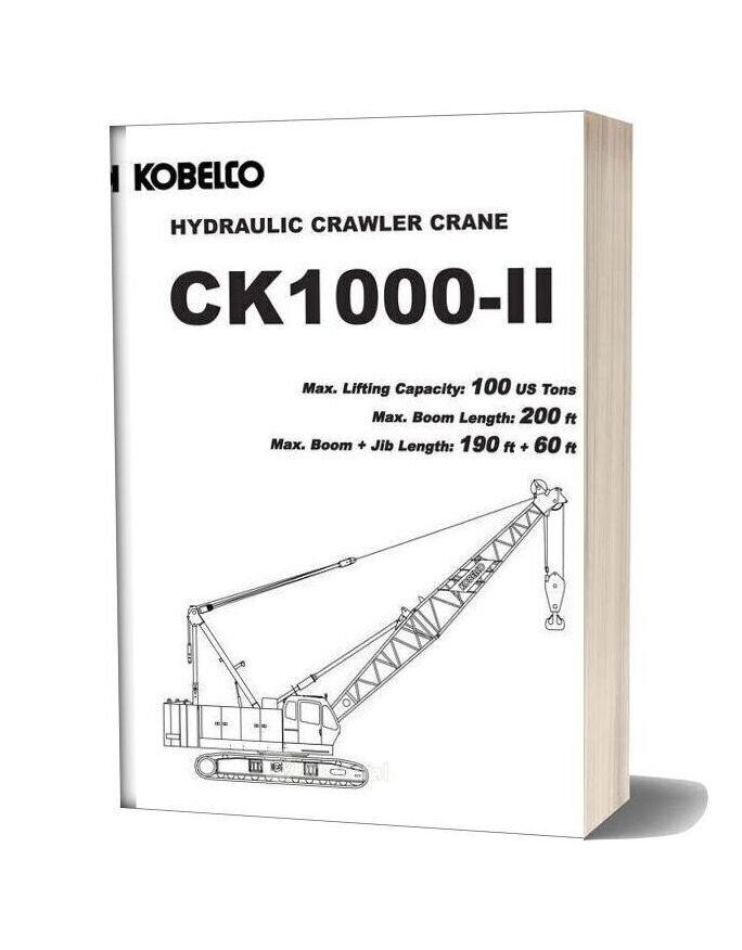 Kobelco Hydraulic Crawler Crane Ck1000 Ii