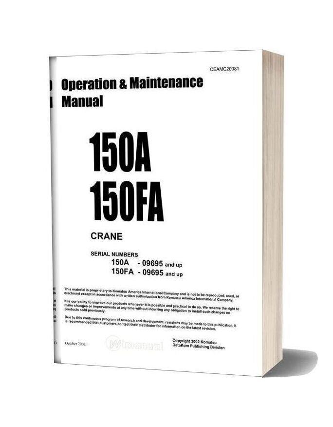 Komatsu 150a 150fa Operation Maintenance Manual