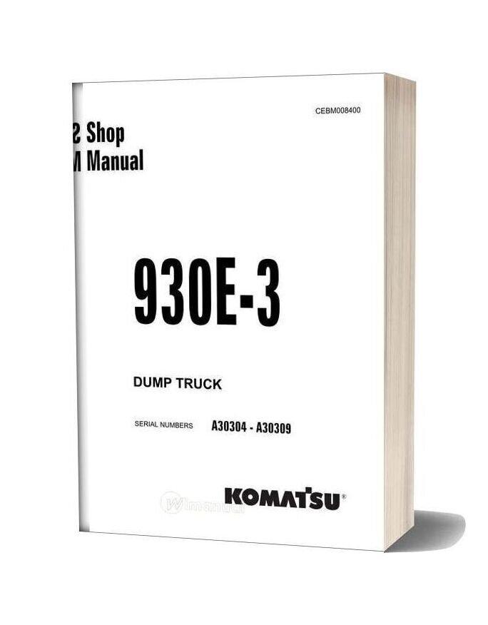 Komatsu 930e 3 Dump Truck Service Manual