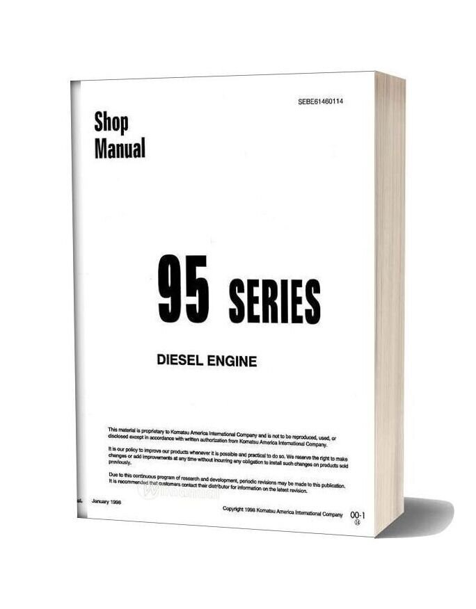 Komatsu 95 Series Diesel Engine Shop Manual