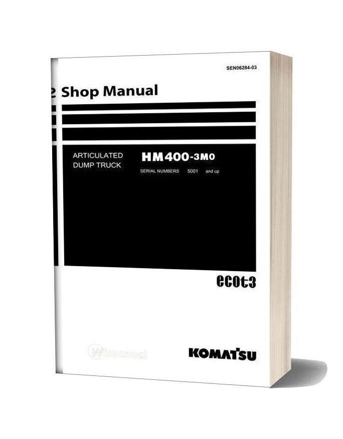 Komatsu Articulated Dump Truck Hm400 3mo Shop Manual