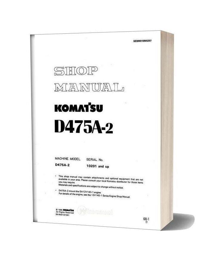 Komatsu Bulldozers D475a 2 Shop Manual