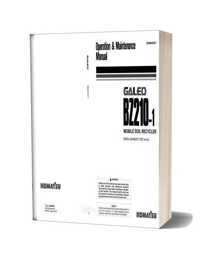 Komatsu Bz210 1 Operation And Maintenance Manual Seam048202t