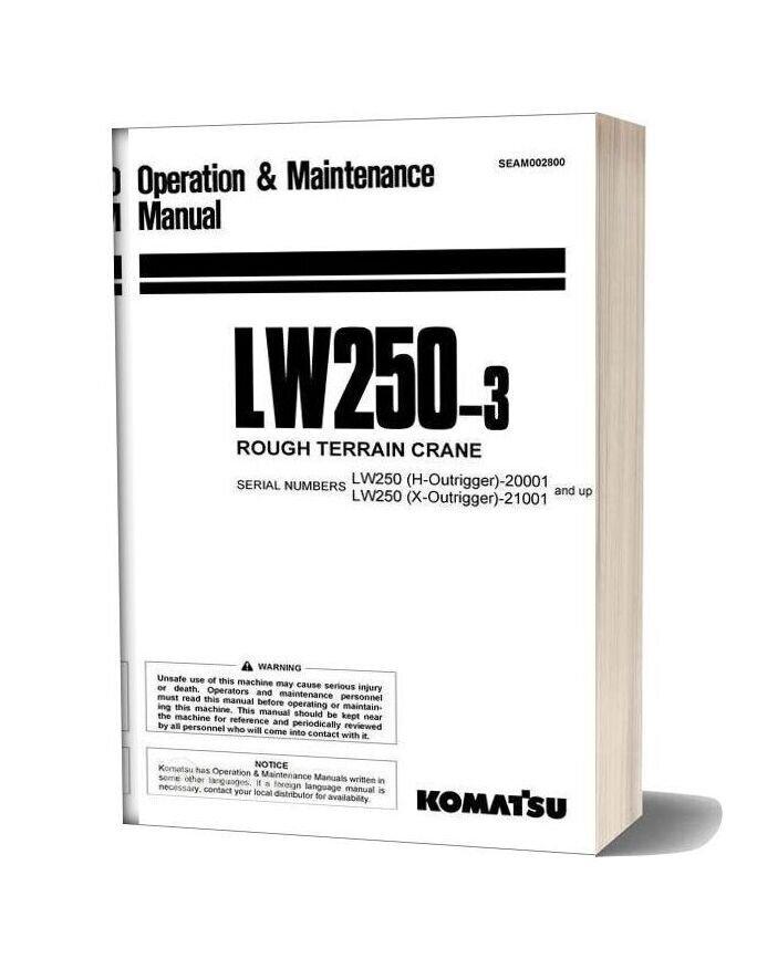 Komatsu Crane Lw250 3 Operation And Maintenance Manual Seam002800