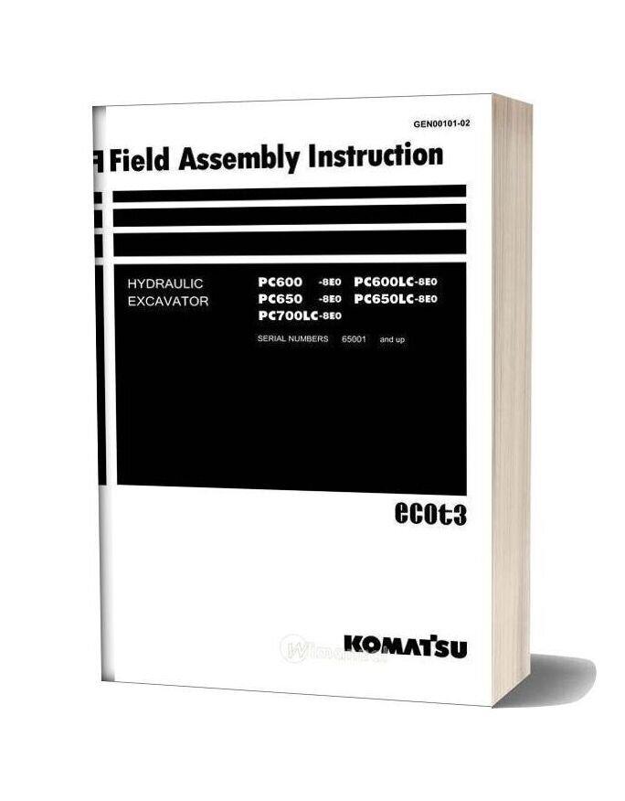 Komatsu Crawler Excavator Pc 700 8 Field Assembly Instruction