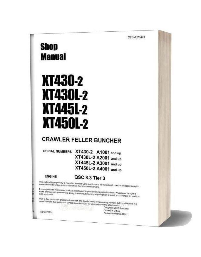 Komatsu Crawler Feller Buncher Xt430 2 Shop Manual