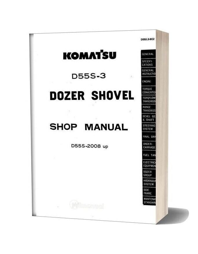Komatsu Crawler Loader D55s 3 Shop Manual