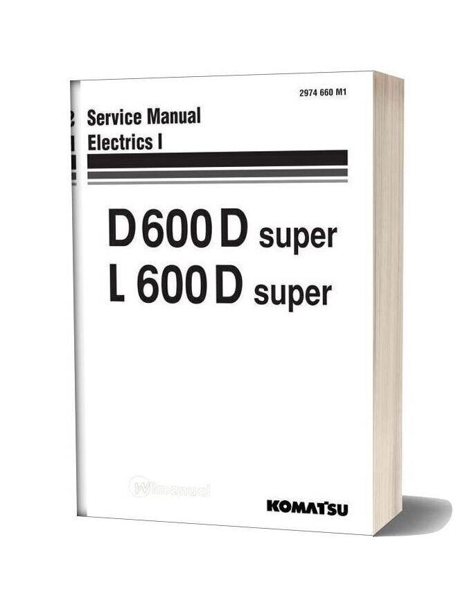 Komatsu Crawler Loader L600d Shop Manual 2