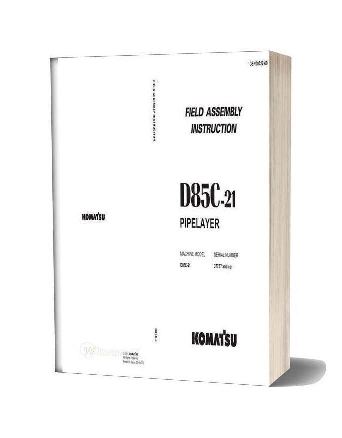 Komatsu D85c 21 Field Assembly Instruction Gen00022 00