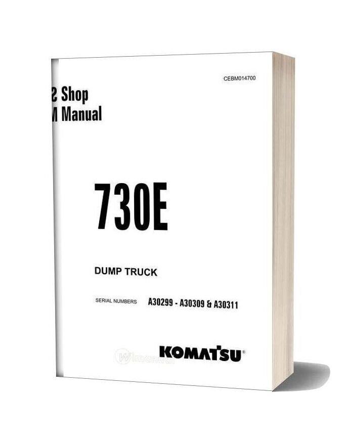 Komatsu Dump Truck 730e Shop Manual Cebm014700