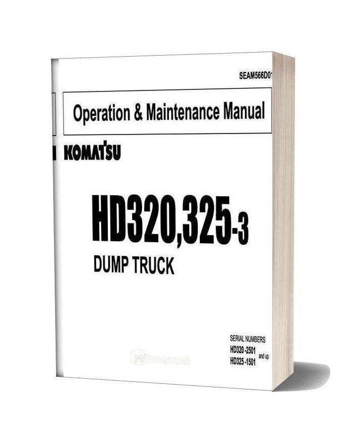 Komatsu Dump Truck Hd320 325 3 Operation Maintenance Manual