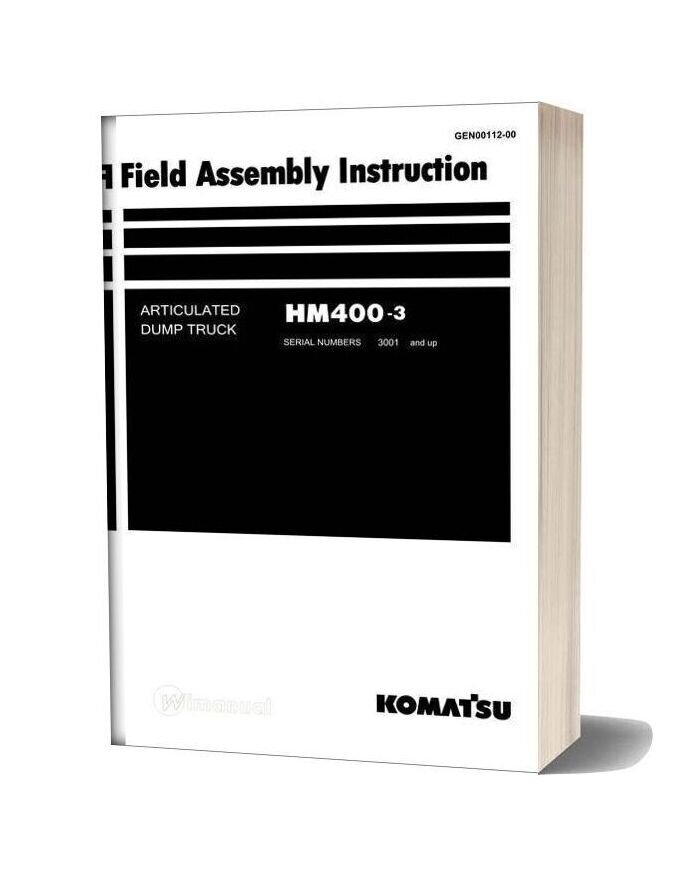 Komatsu Dump Truck Hm400 3 Field Assembly Instruction Gen00112 00