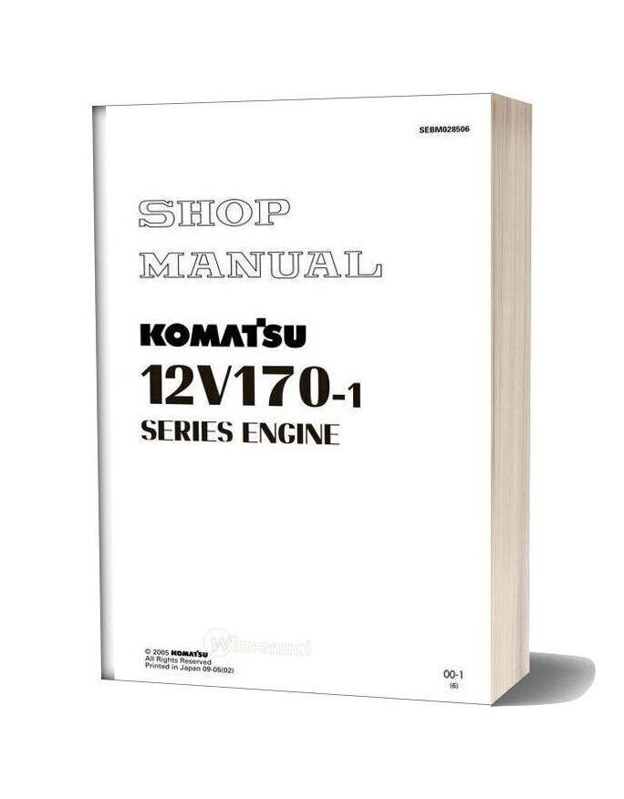 Komatsu Engine 12v170 1 Series Workshop Manuals
