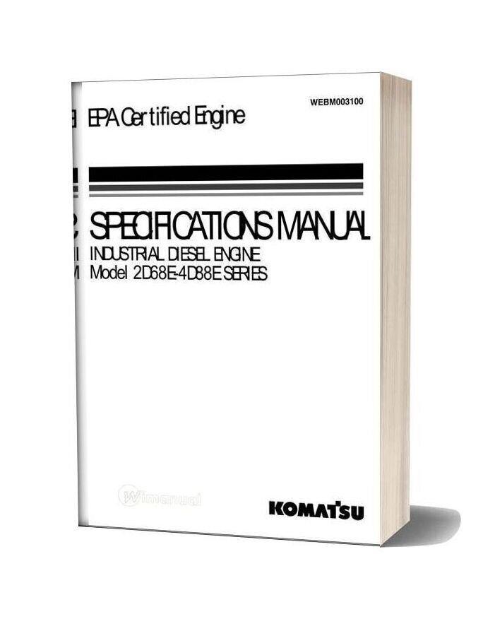 Komatsu Engine 3d78ae 3 Workshop Manuals