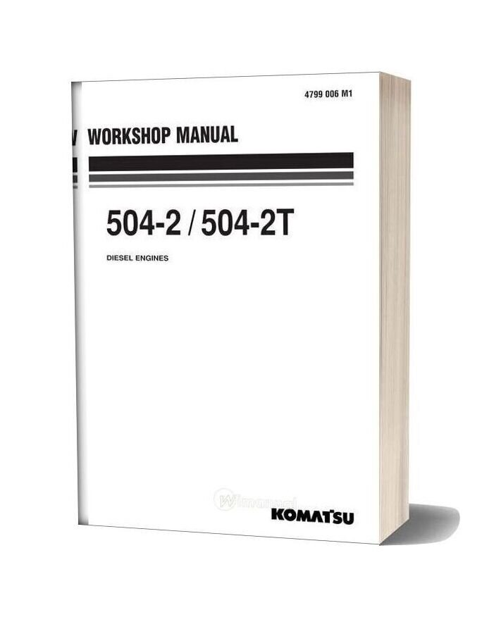 Komatsu Engine 504t 2 Workshop Manuals