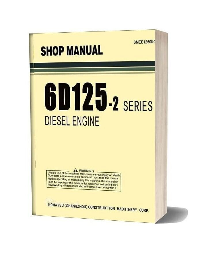Komatsu Engine 6d125 2 Series Workshop Manuals