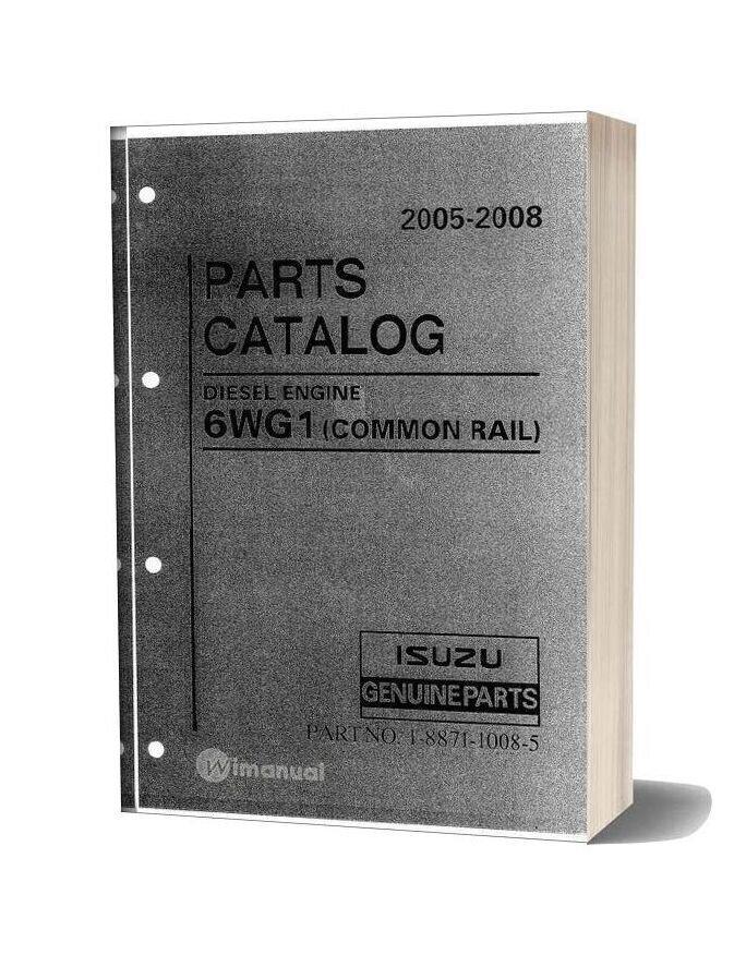 Komatsu Engine 6wg1 Common Rail 2005 2008 Parts Catalog 2
