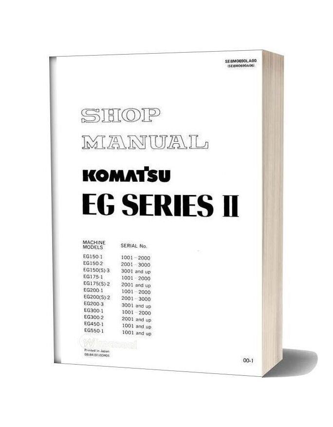 Komatsu Engine Generator Eg200 2 Shop Manual