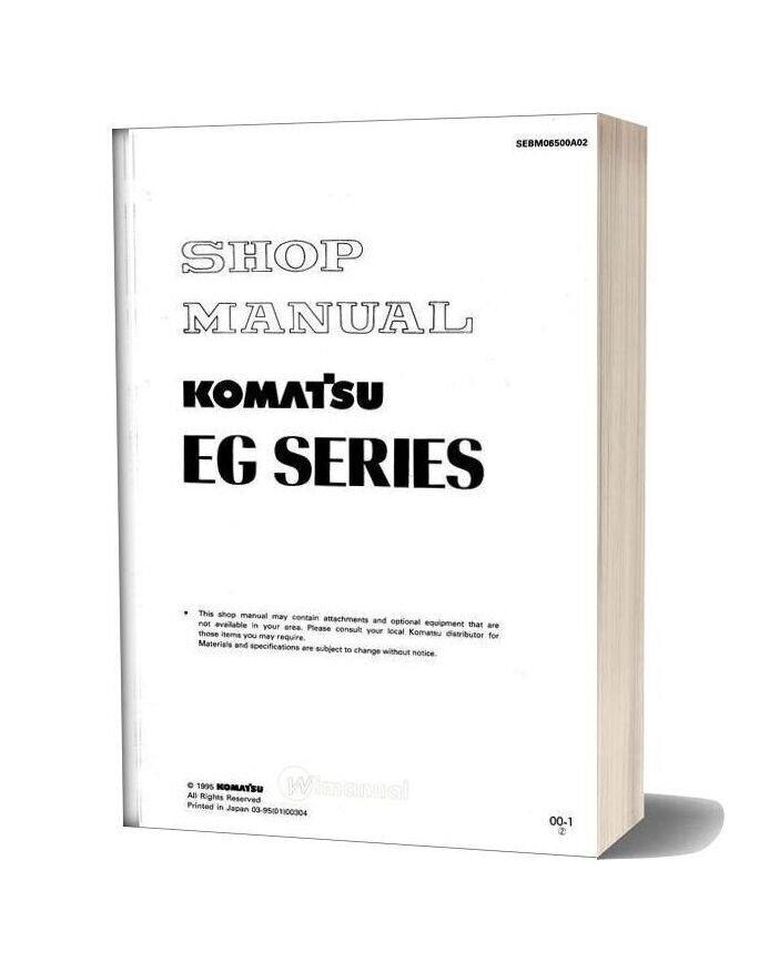 Komatsu Engine Generator Eg350 1 Shop Manual