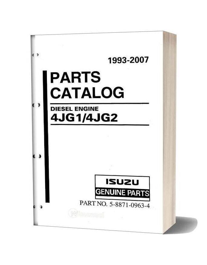 Komatsu Engine Isuzu 4jg1 4jg2 1993 2007 Parts Catalog 2