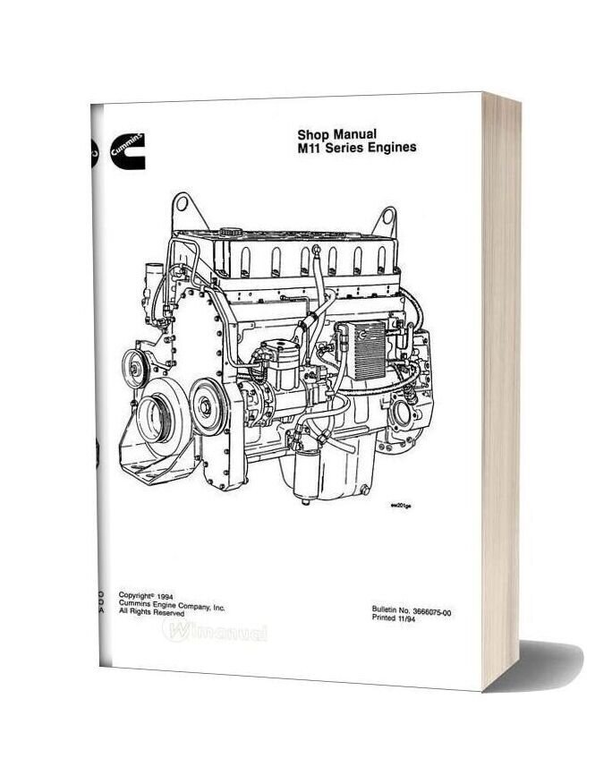 Komatsu Engine Mta11 Workshop Manuals