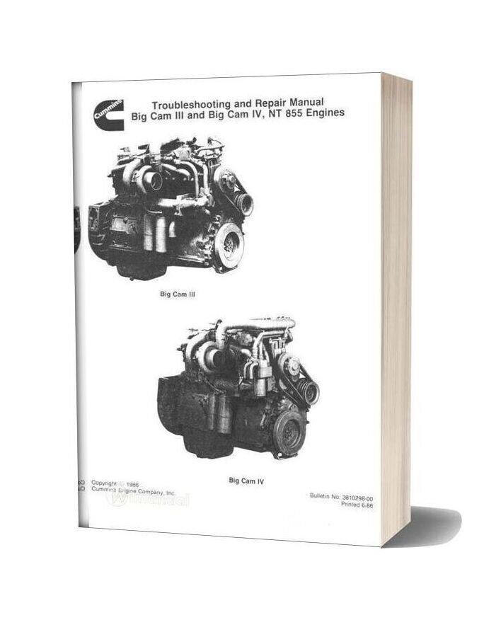 Komatsu Engine Nt 855c Workshop Manuals 1