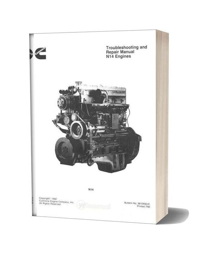 Komatsu Engine Nta 14 Workshop Manuals 2