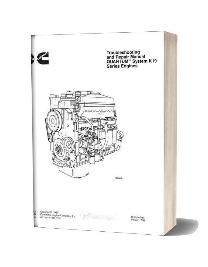 Komatsu Engine Qsk19 Workshop Manuals 1