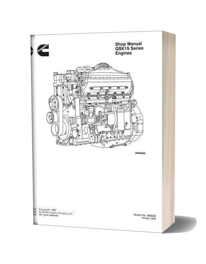 Komatsu Engine Qsk19 Workshop Manuals 2