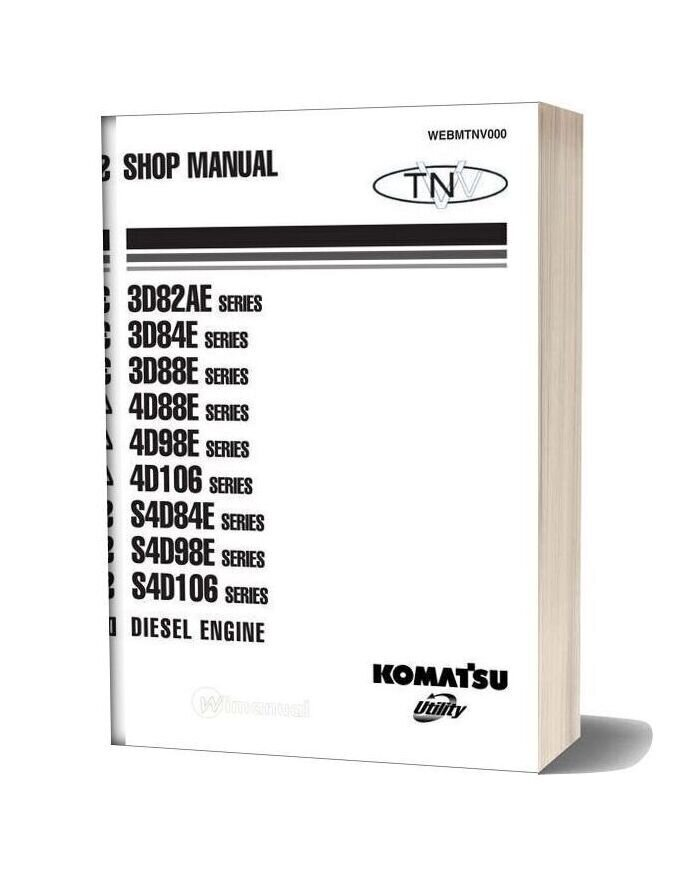 Komatsu Engine S4d106 Workshop Manuals 2