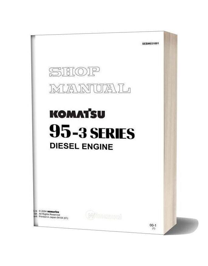 Komatsu Engine S4d95le 3 Workshop Manuals