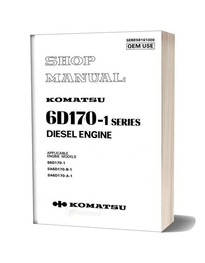 Komatsu Engine Sa6d170 1 Workshop Manuals