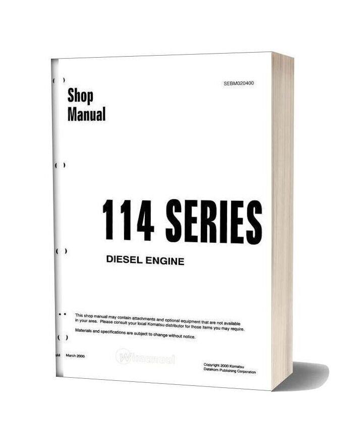 Komatsu Engine Saa6d114 1 Workshop Manuals
