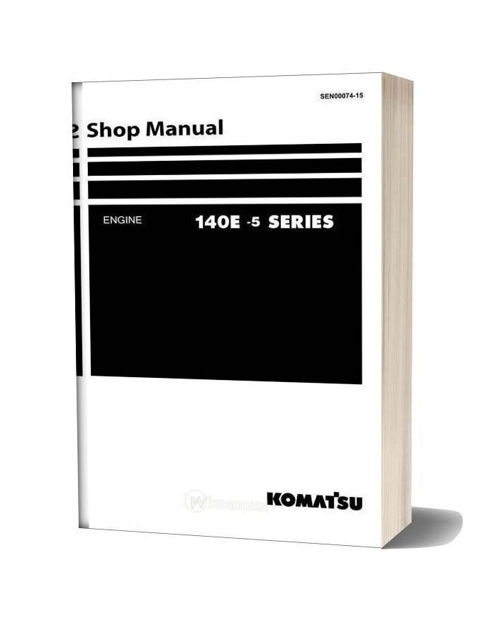 Komatsu Engine Saa6d140e 5 Workshop Manuals