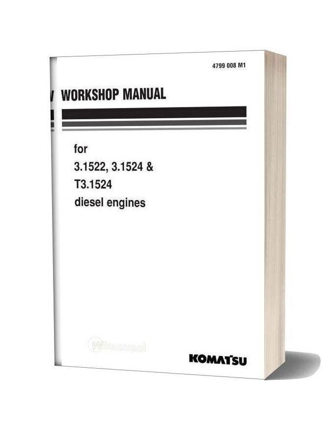 Komatsu Engine T3 1524 Workshop Manuals
