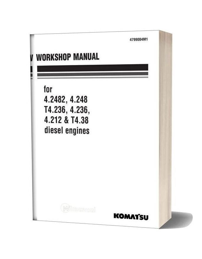 Komatsu Engine T4 38 Workshop Manuals