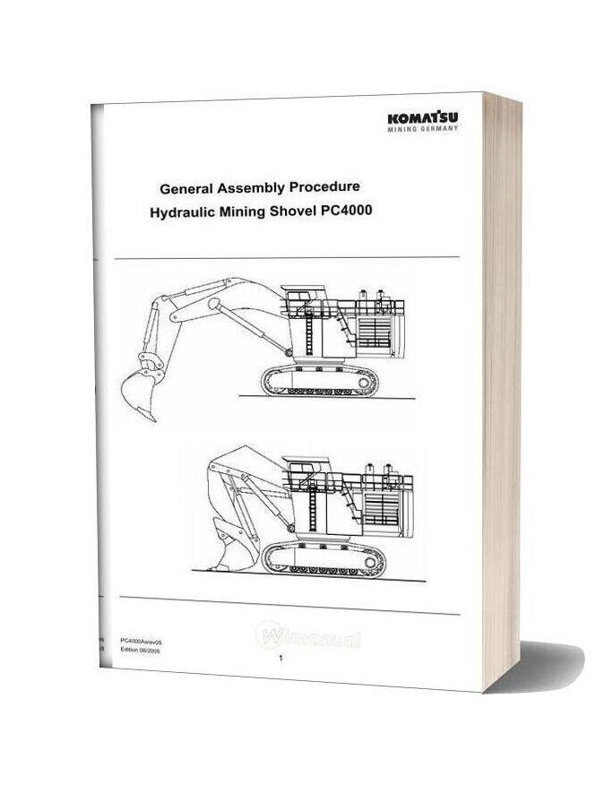 Komatsu General Assembly Procedure Hydraulic Mining Shovel Pc4000