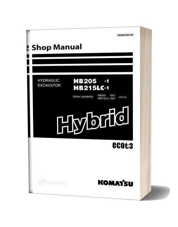 Komatsu Hydraulic Excavator Hb205 1 Hb215lc 1 Shop Manual